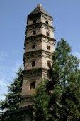 Xi'an, China: Da Xing San Temple Pagoda — Stock Photo