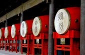Xi'an, China:  Drums on the Drum Tower Terrace — Stock Photo