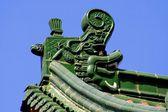 Xi'an, China: Da Xing San Temple Roof Figures — Stock Photo