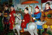 Xi'an, China: Wall Panel Figures at Da Xing San Temple — Stock Photo