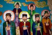 Xi'an, China: Bas Relief Wall Panel at Da Xing San Temple — Stock Photo