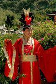 Xi'an, China: Woman Wearing Silk Robe — Stock Photo