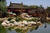 Xi'an, China: Water Gardens at Hua Qing Chi Palace — Stock Photo