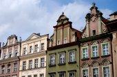 Poznan, Poland: Baroque Buildings in Rynek Square — Stock Photo