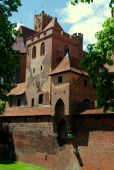 Malbork, Poland:  Malbork Castle — Stock Photo