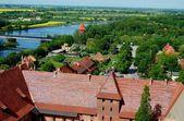 Malbork, Polônia: vista do Castelo de malbork — Fotografia Stock