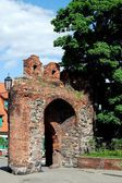 Torun, Poland: Teutonic Knight's Castle Gateway — Stock Photo