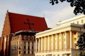 Wroclaw, Poland: Church and Opera House — Stock Photo