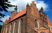 Gdansk,Poland: Church of Saint Catherine — Stock Photo