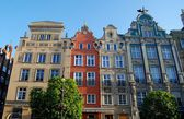 Gdansk, Poland: 18th Century Mansions — Stock Photo