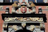 Gdansk, Poland: 1600-09 Arsenal Doorway Figures — Stock Photo