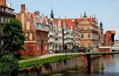 Gdansk, Poland: Baroque Houses on the Old Quay — Stock Photo