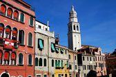 Venice, Italy: Plazza Schiavoni and Venetian Mansions — Stock Photo