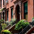 Brooklyn Heights, NY: Row of Brick Brownstones — Stock Photo #52921655