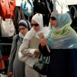 NYC: Three Muslim Women at Street Festival — Stock Photo #52921853