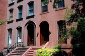 Broolklyn Heights, NY: Row of Handsome Brownstones — Stock Photo