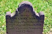 Queens, NYC: Tombstone at Grace Episcopal Church — Stock Photo