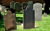 NYC: Early 19th Century Tombstones at Grace Church — Stock Photo