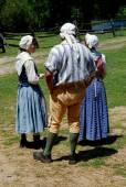 Sleepy Hollow, NY: Costumed Guides at Philipsburg Manor — Stock Photo