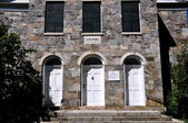 Nya preston, ct: 1824 hill street church — Stockfoto