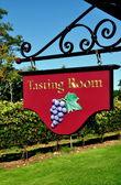 Goshen, CT: Tasting Room Sign at Vineyard — Stock fotografie