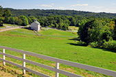 New Preston, CT: View of Pastures and Farmlands — Stock Photo
