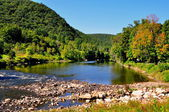 West Cornwall, CT: Housatonic River View — Stock Photo