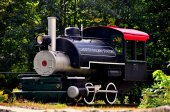 Chester, MA: Steam Engline at Railway Museum — Stock Photo