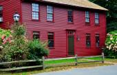 Deerfield, MA: 18th Century Colonial Home — Stock Photo