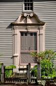 Stockbridge, MA: Doorway of 1742 Mission House — Stock Photo