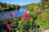 Bridge of Flowers in Shelburne, MA — Stock Photo