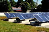 Hancock, Massachusetts: Solar Panels at Shaker Village — Stock Photo