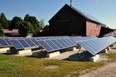 Hancock, MA:  Solar Panels at Hancock Shaker Village — Stock Photo