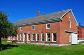 Hancock, MA: Brick Poultry House at Shaker Village — Stock Photo