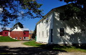 Hancock, MA: Shaker Village Hired Men's House and Ice House — Stock Photo