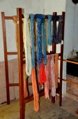 Hancock,MA: Skeins of Yarn at Shaker Village — Foto Stock