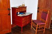Hancock, MA: Furniture at Brethren's Dwelling House — Stock Photo