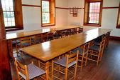 Hancock, MA: Shaker Village Dining Room — Stock Photo