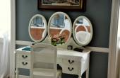 Lenox, MA: Bedroom Vanity Table at The Mount — Stock Photo