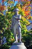 Manchester Village, VT: Revolutionary War Soldier Statue — Stock Photo