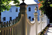 Bennington, VT: White Fence at Congregational Church — Stock Photo