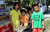 Kanchanburi, Thailand: Vier kleine Kinder — Stockfoto