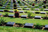 Kanchanaburi, Thailand: WWII Cemetery Gravesites — Stock Photo