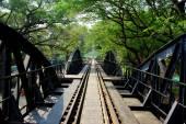 Kanchanaburi, Thailand: River Kwai Railroad Bridge — Stock Photo