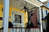 Cold Spring, NY:  Halloween Decorations — 图库照片