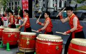 NYC: Youthful Drummers at Taiwanese Festival — Stock Photo