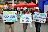 Taiwanese with Signs at NYC Festival — Foto Stock