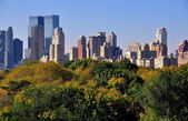 NYC: View of Manhattan Skyline from Central Park — Stock Photo