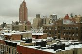 NYC: Snow Scene on the UWS — Foto de Stock