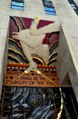 NYC: Art Deco Bas Relief at Rockefeller Center — Stock Photo